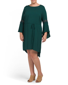 Plus Juniors Bell Sleeve Dress