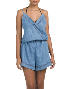 Chambray Cover-up Romper