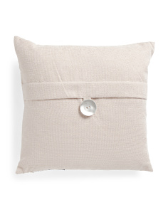 20x20 Metallic Button Pillow