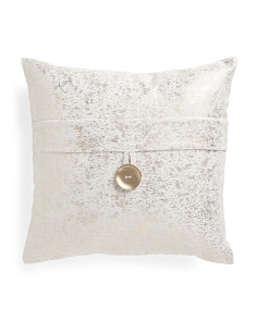20x20 Metallic Linen Look Pillow