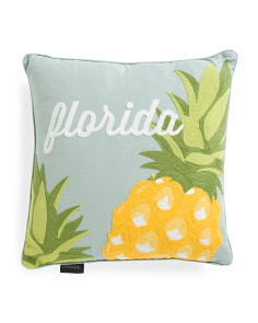 16x16 Florida Pineapple Pillow
