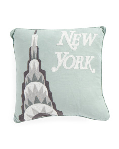 16x16 New York Empire Pillow