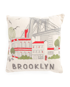 20x20 Brooklyn Bridge Pillow