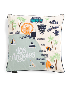 20x20 Los Angeles Map Pillow
