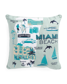 20x20 Miami Beach Pillow