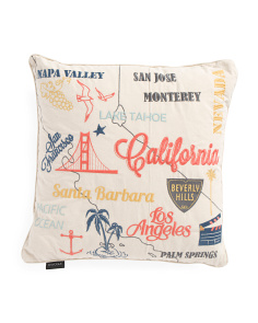 20x20 California Words Pillow
