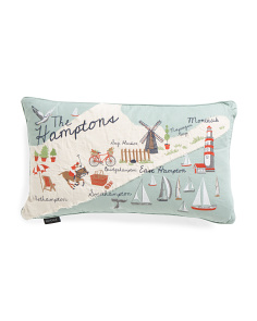 14x24 Embroidered Hamptons Pillow
