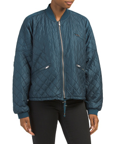 Easy Quilted Bomber Jacket
