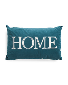 16x26 Velvet Home Pillow