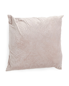 20x20 Embossed Velvet Pillow