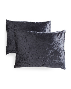 18x24 2pk Crushed Velvet Pillows