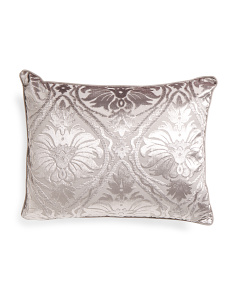 20x26 Cut Velvet Damask Pillow