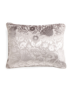 20x26 Cut Velvet Floral Pillow