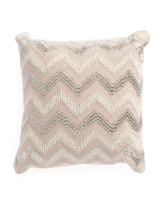 Made In India 18x18 Chevron Pillow