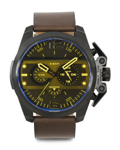 Men's Ironside Chronograph Leather Strap Watch