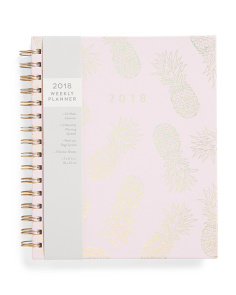Pineapple Fun 2018 Spiral Planner