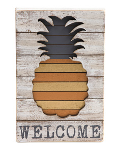 Pineapple Welcome Wall Decor
