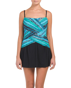 Over The Shoulder Swim Dress