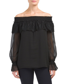 Off The Shoulder Tulip Sleeve Top