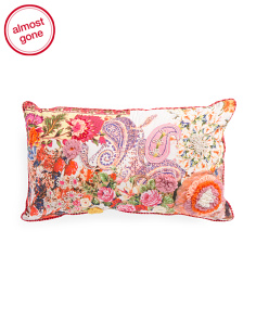 Made In India 14x24 Floral Pillow