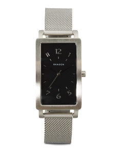 Women's Hagen Rectangular Dial Mesh Strap Watch