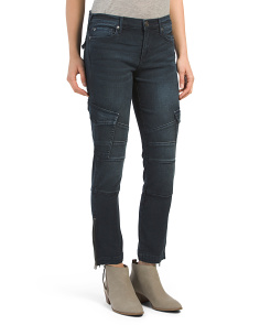 Halle Mid Rise Cargo Jeans