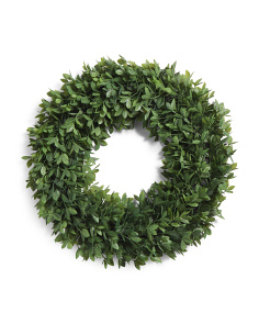 25in Round Faux Bay Leaves Wreath