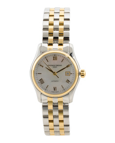 Women's Swiss Made Automatic Two Tone Bracelet Watch