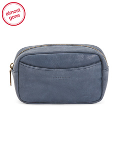 Badia Suede Cosmetic Bag