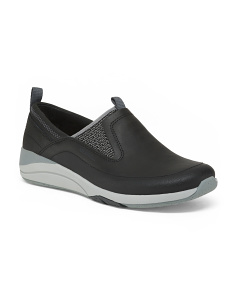 Slip On Comfort Leather Sneakers