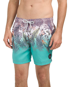 Tropical Printed Swim Shorts