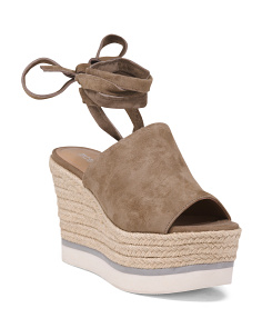 Lace Up Suede Espadrilles