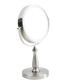LED Lighted Dual Magnification Vanity Mirror