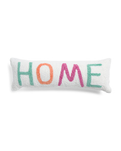 8x24 Hand Hooked Home Pillow