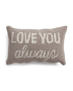 12x18 Hand Hooked Love You Pillow