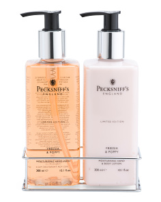Freesia And Poppy Hand Wash & Lotion Caddy