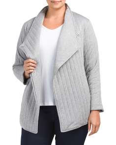 Plus Quilted Jersey Jacket