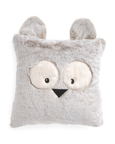 16x16 Faux Fur Owl Pillow
