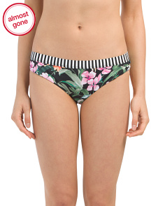 Mixed Print Banded Hipster Bottom
