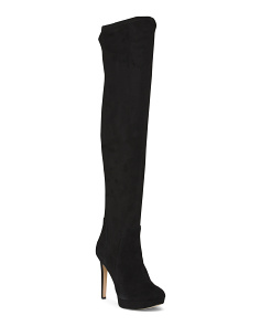 Suede High Heel And Shaft Boots