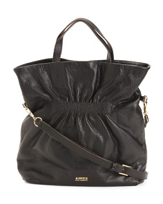 Fifth Avenue Convertible Leather Tote