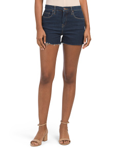High Rise Denim Cutoff Shorts