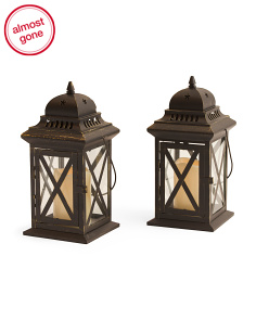 Set Of 2 Birdcage Lanterns