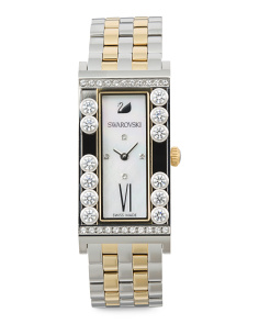 Women's Swiss Made Lovely Two Tone Bracelet Watch