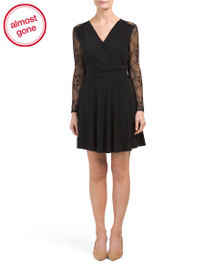 Petite Lace Knit Dress