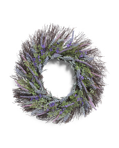 24in Faux Lavender Wreath