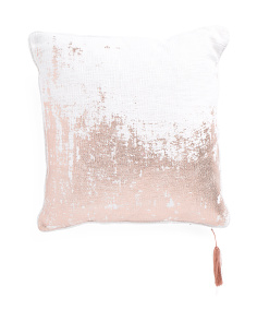 20x20 Adia Copper Foil Print Pillow