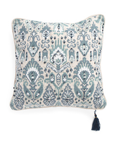 20x20 Deya Ikat Embroidered Pillow