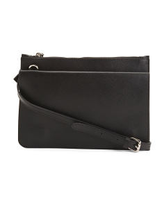 Made In Italy Flat Leather Crossbody