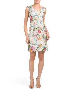 Petite Floral V-neck Dress